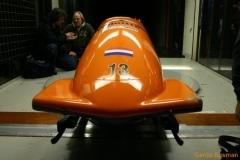 De weerstand van de bobslee